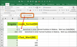 Excel: Enter values ​​from your own function formula