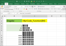 Excel: Barcode by Excel Insert macro code into cells