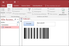 ActiveX Barcode 39 Control for Excel Access Word