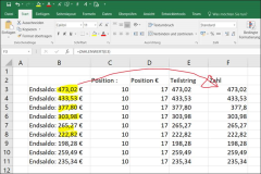 Excel: Determine a substring from text with Formulas