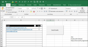 Send emails from Excel with Outlook
