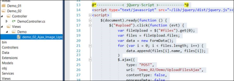 Asp jQuery: upload files with Ajax