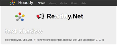 HTML Style: Create text border with text-shadow