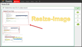 Javascript Code: Resize Border to add and remove an image