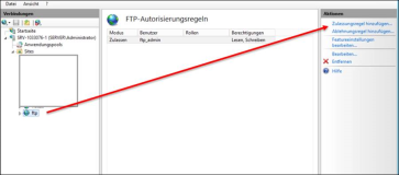 Setting up FTP: Enter ftp authorization for user