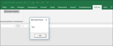 Excel Addin: Creating a Ribbonbar Buttons for a vba Excel Addin