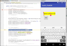 Android Java: create a view element as a float