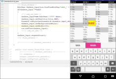 Android: Create an input field with width and background at runtime