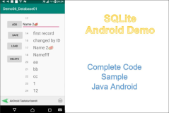 SQLite Database in Android:  Complete Code  Example