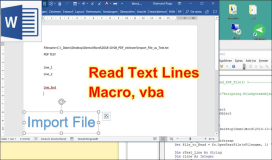 Word: read text files with vba macro