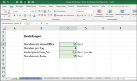 Excel template: Calculation of all-inclusive hourly rates for freelancers.