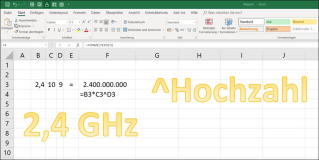 Excel Exponent Numbers