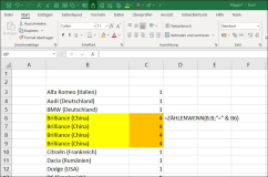 Excel: Count how often a value occurs