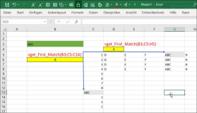 Excel function: find the position in a column or row