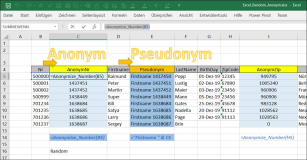 Excel : Anonymizing and pseudonymizing numbers