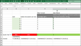 Excel : Convert numbers to text