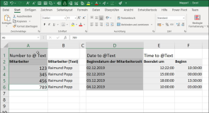Excel: Convert numbers, date and time to text