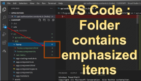 Visual Code: Folder has emphazised Items