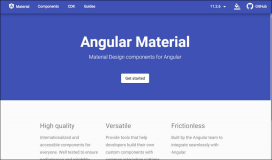Angular Material Themes Indigo Pink, Deep Purple Amber, Pink Blue Grey, Purple Green